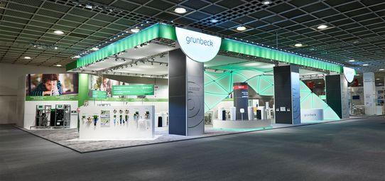 Messestand Grünbeck - ISH Frankfurt - Messebau