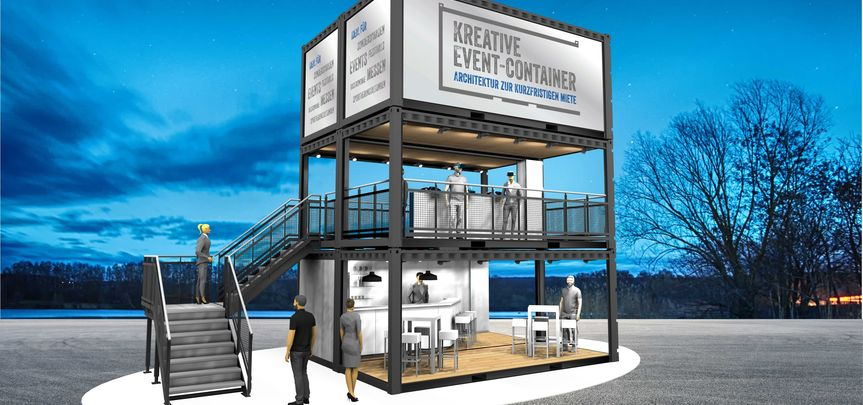 Messe - & Event - Container grafisch individualisierbar mieten