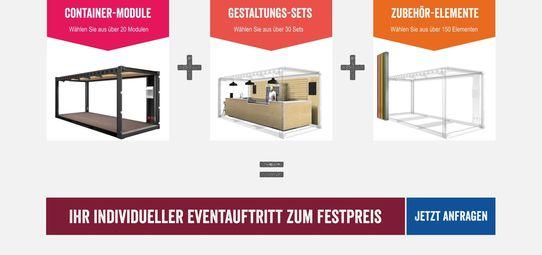 Messe - & Event - Container zu Festpreisen mieten