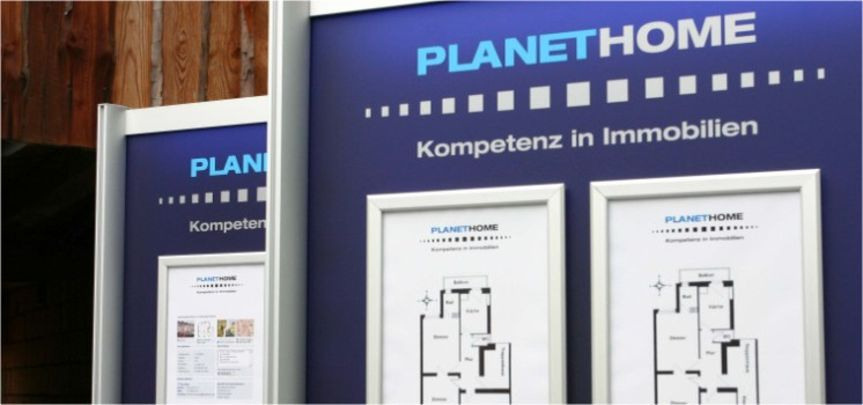 Immobiliendisplay für Banken - Displaybau