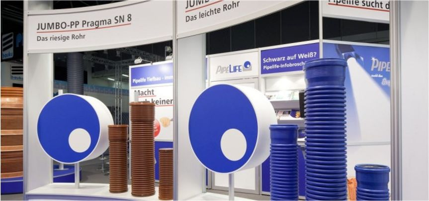 Messestand Pipelife Rohrsysteme - Messebau