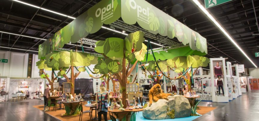 Messestand Tutto Opal Sockenwolle - Messebau