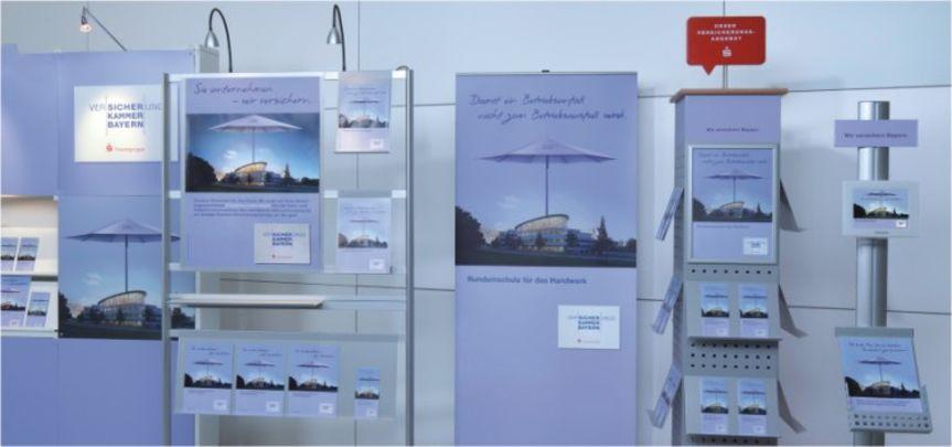 Displays für die Versicherungskammer Bayern - Displaybau